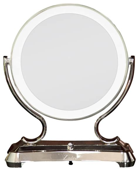 bathroom makeup mirrors zadro surround lighted glamour mirror traditional