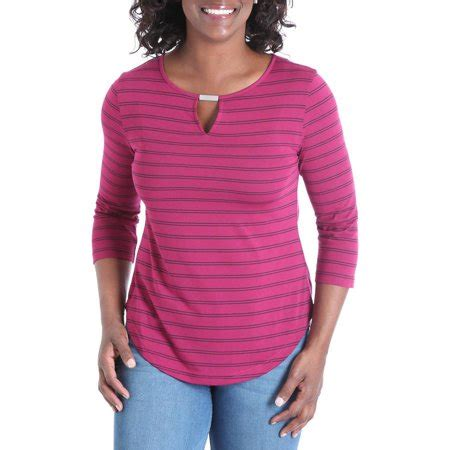 3 4 Sleeve Striped Knit Top riders by s 3 4 sleeve striped knit top