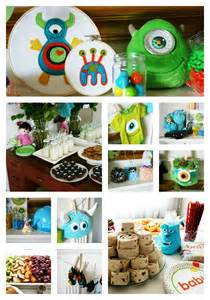 clever monsters inc themed baby shower
