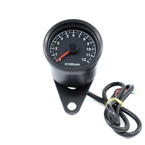 Mini Drehzahlmesser Motorrad by 2 5 Quot Black Electronic Mini Tachometer Black Face Mini