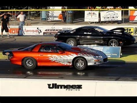 drag radial camaro 315 drag radial camaro vs mustang racing at byron