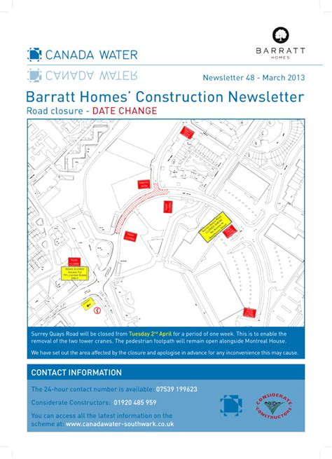 Construction Newsletter Surrey Quays Road Closure Rescheduled 171 Se16