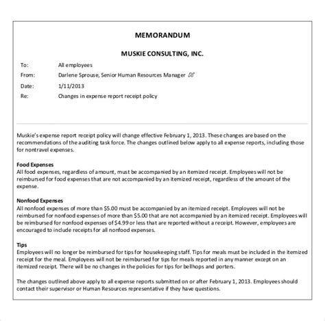Memo Document Template Word Business Memo Templates 14 Free Word Pdf Documents