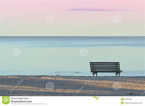 bench on the beach bench on the beach royalty free stock photo image 26235065