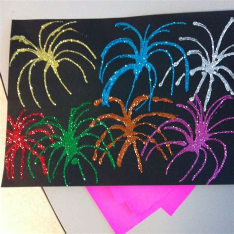 firework craft using black construction paper elmer s