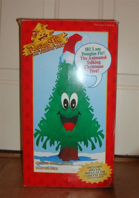 douglas fir the talking tree gemmy douglas fir the talking tree 24 quot animated singing tree nib artificial trees