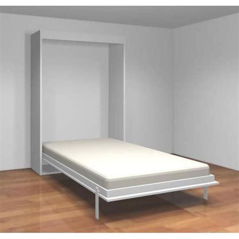 lit vente cuisine teo armoire lit escamotable cm blanc mat achat