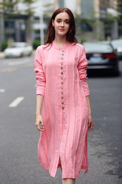 You Are Beautiful Alure Tunic Pink Shirt Pink Tshirt Linen Shirt Dress Longsleeve