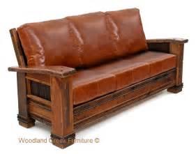 cabin sofa ranch barn wood sofa reclaimed