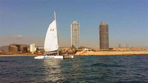 catamaran trips in barcelona boat trip in catamarans for events in barcelona