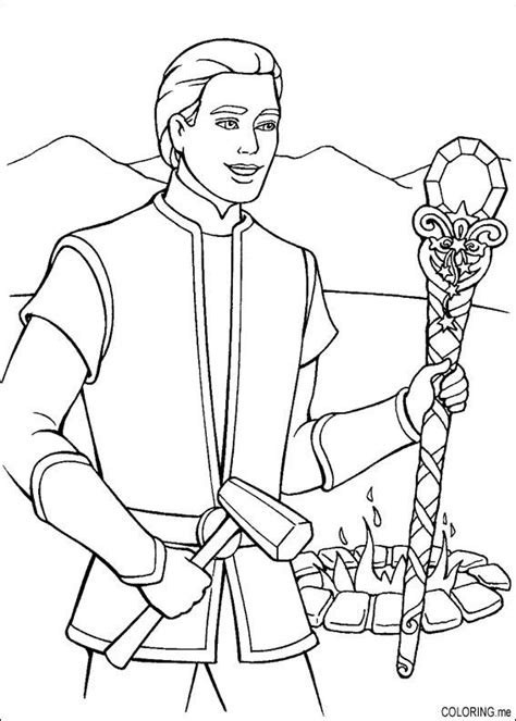 Coloring Page Barbie Magic Pegasus Ken Magic Wand Ken Coloring Pages