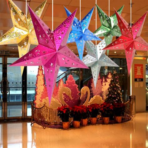 xmas string hanging star christmas party decoration christmas tree ornament ebay