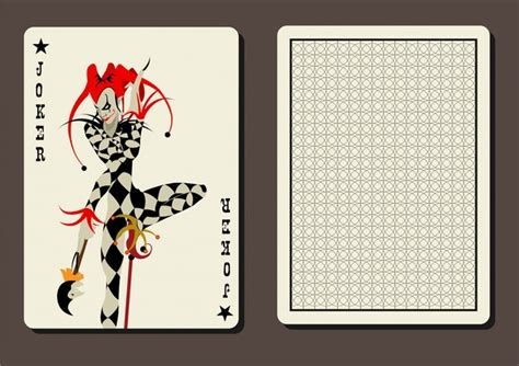 Joker Card Template by Free Vector Cards Free Vector 13 742