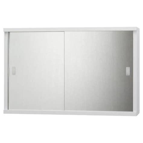 White Sliding Door Cabinet Buy Tesco Sliding Mirror Door White Cabinet From Our Bathroom Wall Cabinets Range Tesco