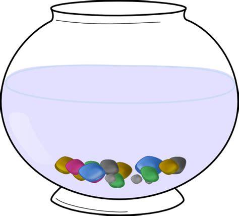 empty fish bowl coloring clipart