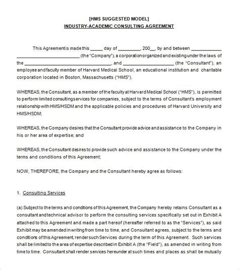 business consultant agreement template consultant agreement template business template