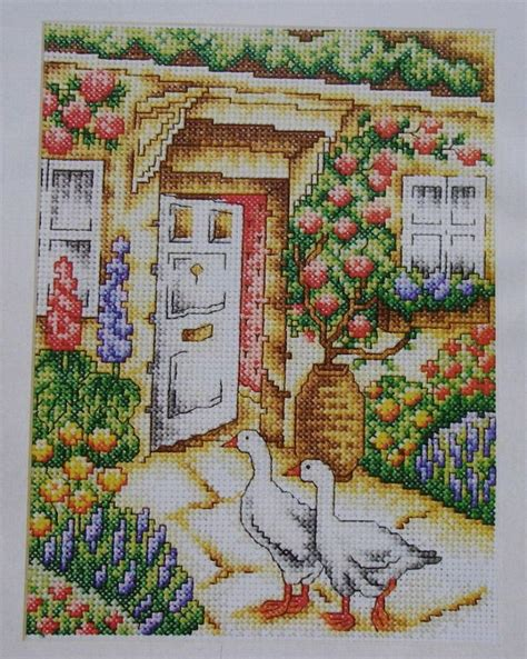 country cottage cross stitch english country cottage garden geese cross stitch charts