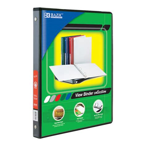 3 ring black view binders whoelsale bulk binders