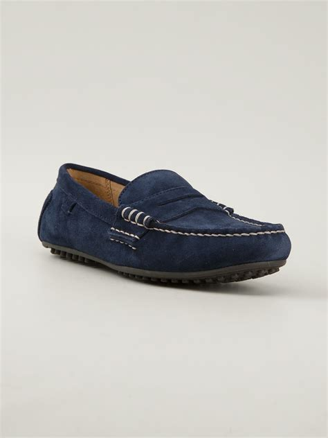 ralph mens loafers polo ralph wes loafer in blue for lyst