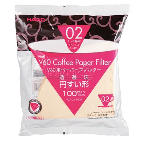 Hario Vcf 02 100w V60 Filter Paper White Isi 100pcs Original Japan paper filter v60 02 100 sheets hario vcf 02 100w