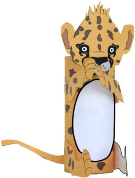 How To Make A Paper Cheetah - cheetah cub craft