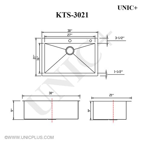 How To Measure Kitchen Sink 30 Quot Top Mount Stainless Steel Kitchen Sink Single Bowl Wide Kts3021 Ebay