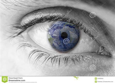 googlehaircut mediumhairlayer planet earth and human eye human eye earth planet stock