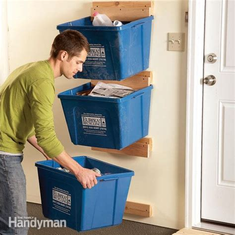 Garage Organization Totes Garage Organization Create Recycle Bin Hangers The
