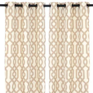 kirklands drapes taupe gatehill curtain panels 95 in kirkland s