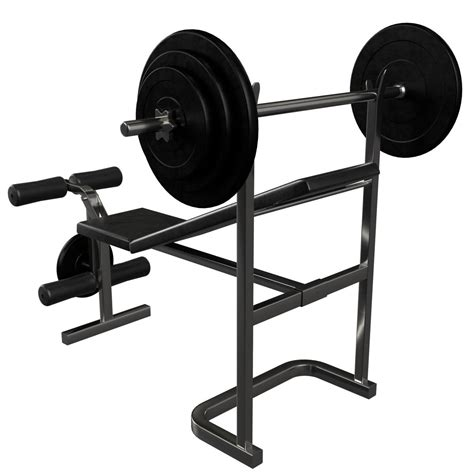 starter weight bench set gym equipment bench weight by francescomilanese 3docean