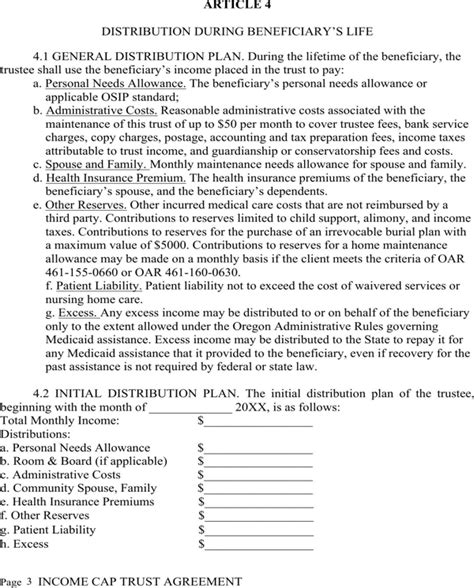 Download Irrevocable Living Trust Agreement For Free Page 3 Formtemplate Irrevocable Trust Template
