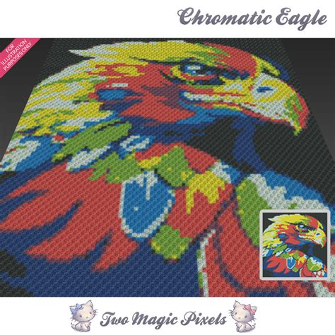 js blanket pattern chromatic eagle crochet blanket pattern twomagicpixels