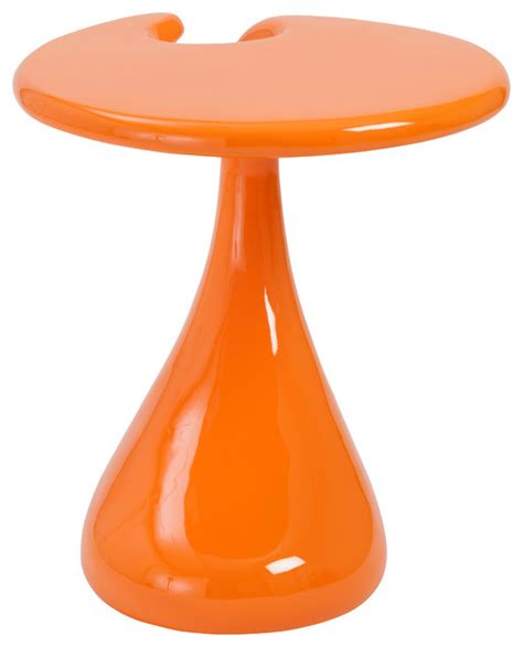 Orange Side Table Galan Side Table High Gloss Orange Modern Side Tables And End Tables