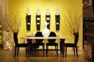 Yellow Dining Room Ideas dining room paint ideas with black and green color