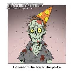 melancholy greetings zombie birthday card blank inside