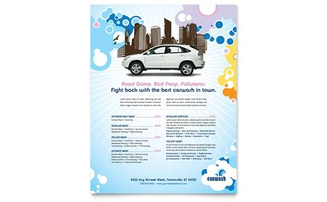 publisher flyer templates car wash flyer template word publisher