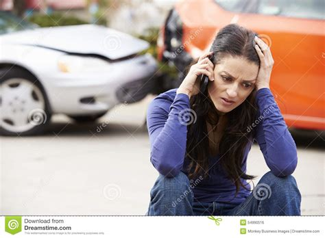 driver phone call after traffic stock photo image 54990516