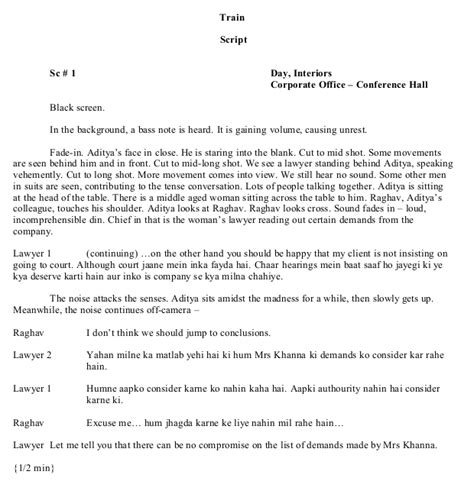 formatting hollywood script vs bollywood script