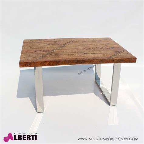 tavoli legno e acciaio tavolo caff inox e top legno e vetro 90x60x50
