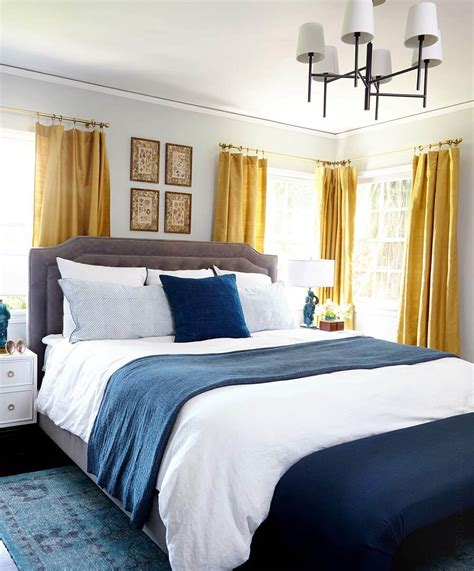 Teal And Gold Bedroom by Master Bedroom Makeover Emily Henderson