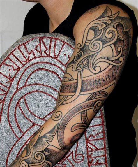 nordic cross tattoo 70 viking tattoos for germanic norse seafarer designs