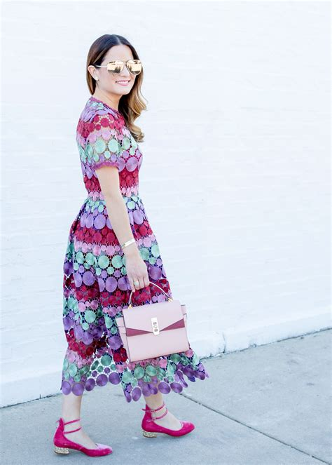 Dress Marcellina multicolor lace dress style charade