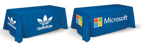 full color table cover printing 3 sides table throw printing