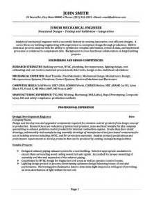automotive mechanical engineer sle resume boeing mechanical engineer sle