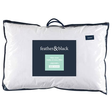 recycle feather pillows goose feather pillow soft medium feather black