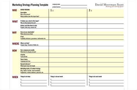 free printable templates for advertising 32 free marketing strategy planning template pdf ppt