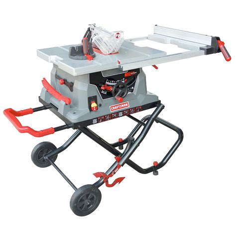 craftsman bench saw craftsman 10 quot jobsite table saw sears