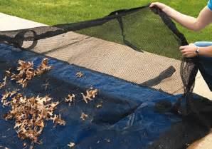 mesh leaf net swimming winter pool covers poolandspa com