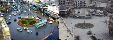 syria before and after homs former capital of the syrian revolution falls to