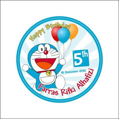 Sticker Stiker Anak Karakter Doraemon 7 jual sticker label ulang tahun seri doraemon aleka photowork